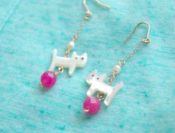 Love kittens -hot pink- ¥3200